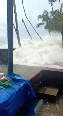 Visuals of cyclone effect in Karnataka