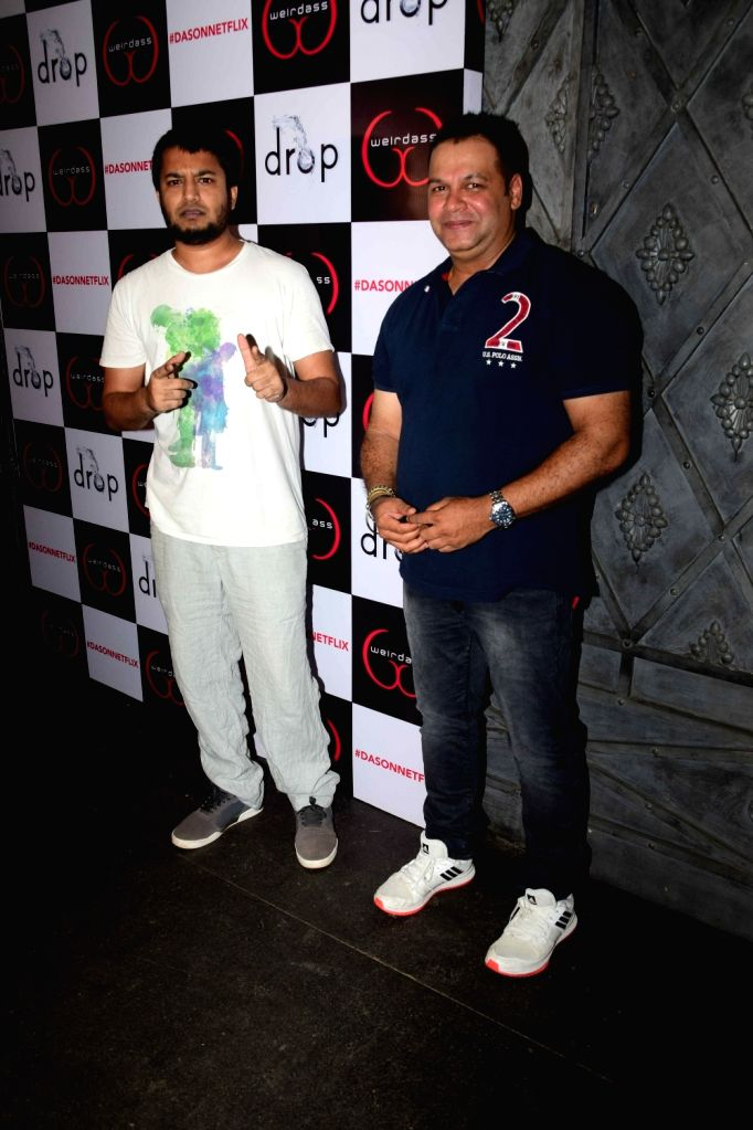 VJ Jose Mario and actor Suresh Menon during the success of his show Netflix Abroad Understanding in Mumbai on May 2, 2017. - Suresh Menon