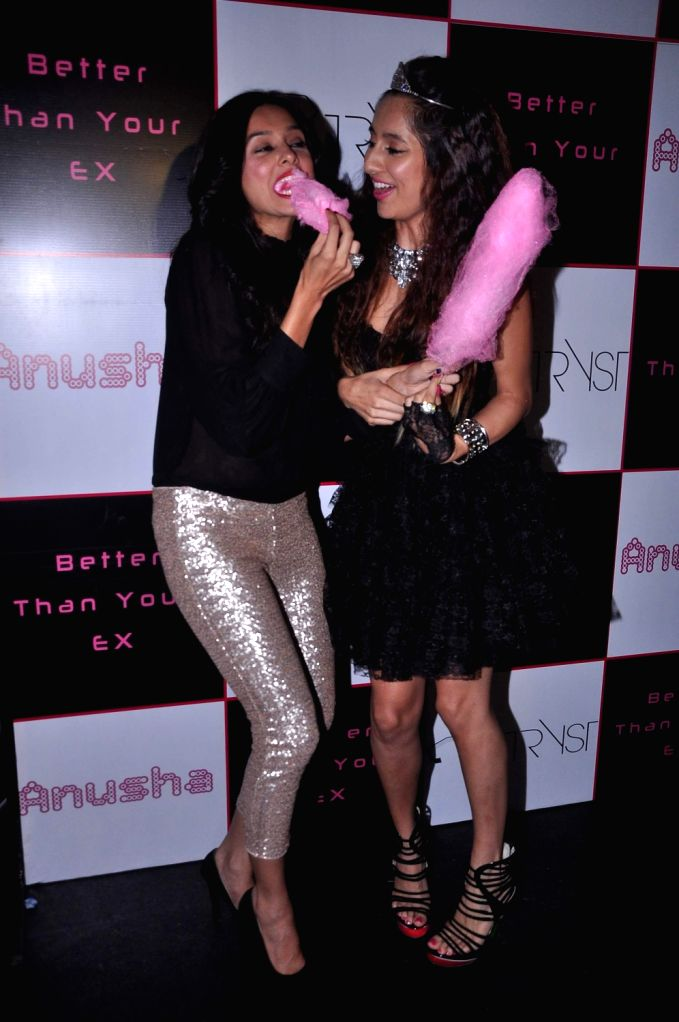 VJ-turned-actress Anusha Dandekar during the launch of her album `Better Then Your EX` in Tryst, Mumbai.