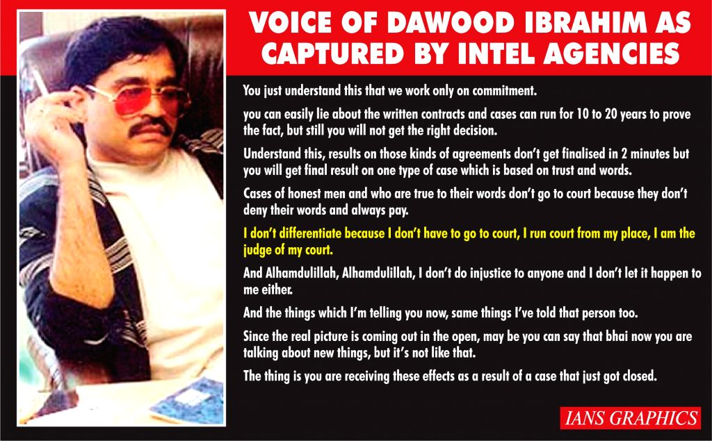 Voice of Dawood Ibrahim As Captured By Intel Agencies.