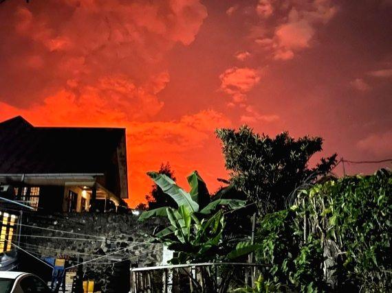 Volcano eruption in Goma, Democratic Republic of the Congo