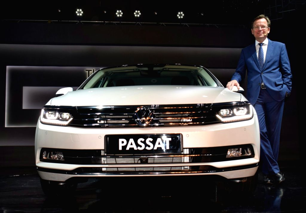 Volkswagen Director (passenger cars) Stephen Nep at the launch of 'Passat' in New Delhi on Oct 10, 2017.