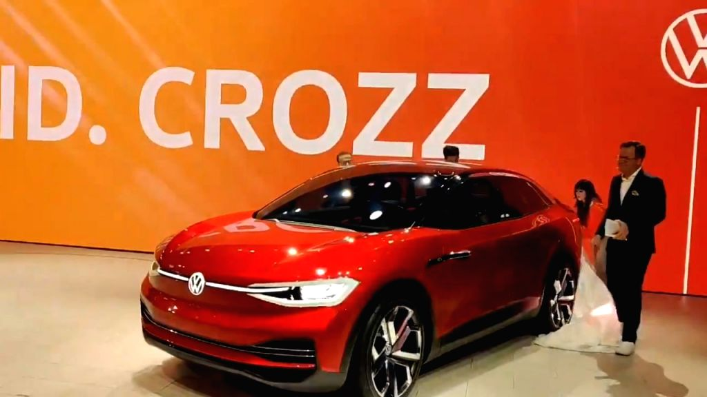 Volkswagen's concept electric car 'ID CROZZ' unveiled at the Auto Expo 2020 in Greater Noida on Feb 6, 2020.