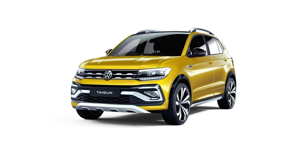 Volkswagen showcases its first ever compact SUV, 'The Volkswagen Taigun' under the India 2.0 project.