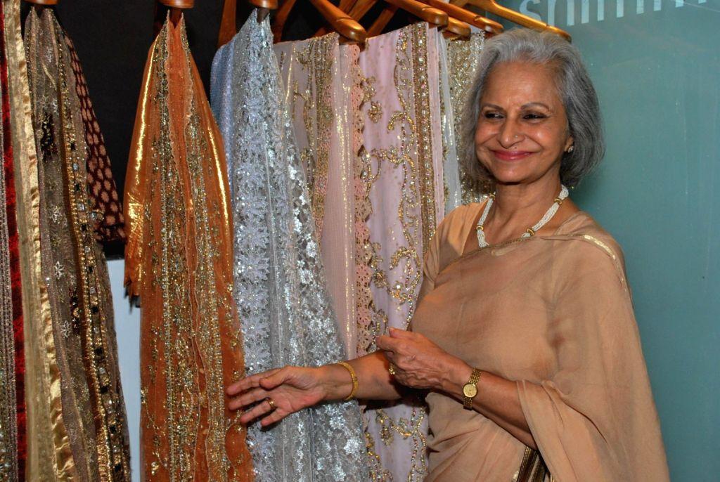 Waheeda Rahman at store launch of Designer Rina Shah.