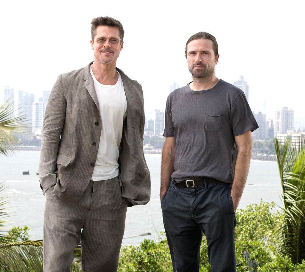 "\""War Machine\"" director David Michod with Brad Pitt - David Michod"