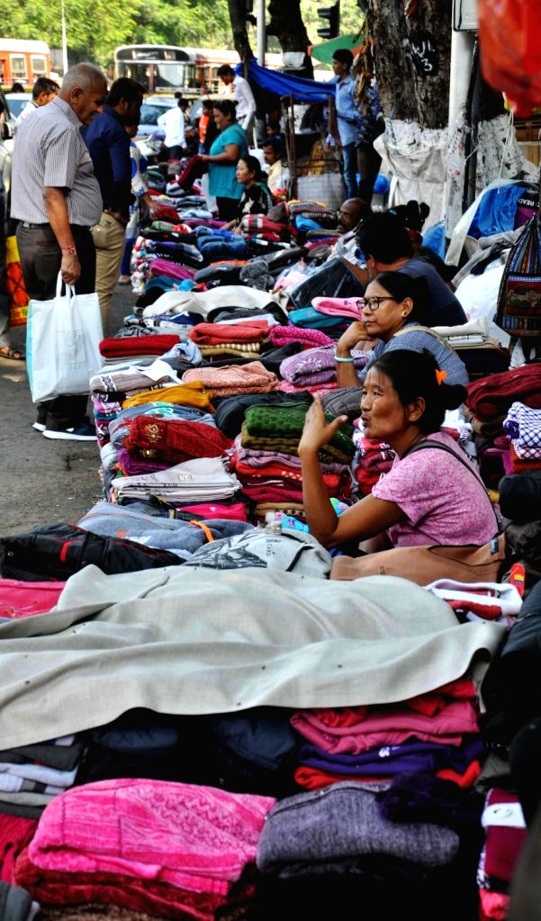 Warm clothes being sold on Mumbai streets on Dec 9, 2015.