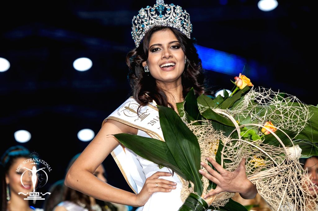 Asha Bhatt, who was crowned Miss Supranational 2014 in Warsaw, Poland on Dec 6, 2014.