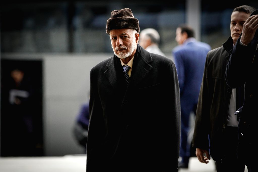 WARSAW, Feb. 14, 2019 (Xinhua) -- Afghan President Mohammad Ashraf Ghani arrives at the National Stadium for the Warsaw conference on the Middle East in Warsaw, Poland, on Feb. 14, 2019. Poland hosted a two-day international conference sponsored by t