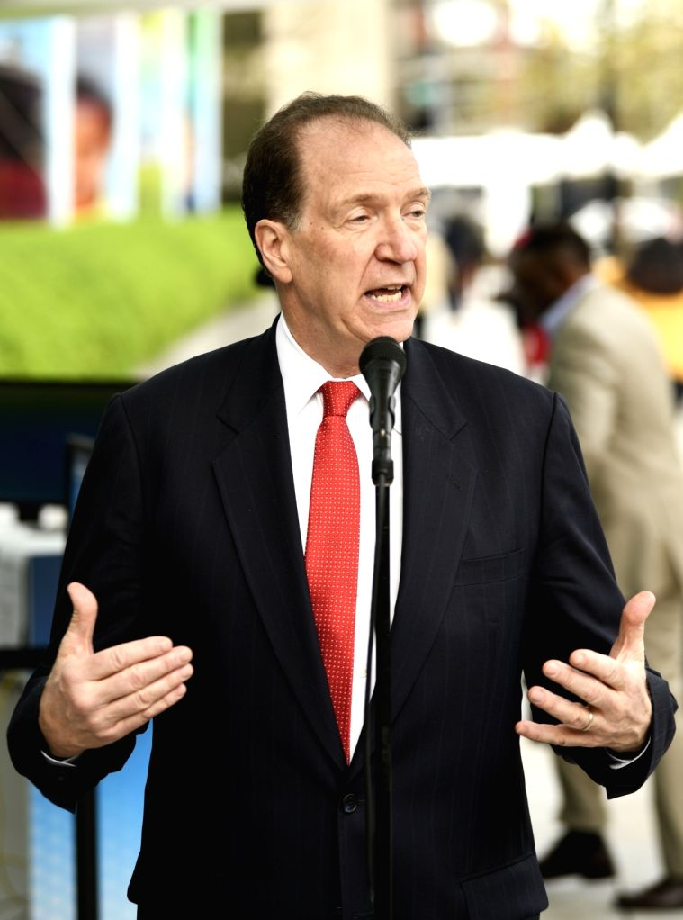WASHINGTON, April 9, 2019 - David Malpass speaks in front of the World Bank headquarters in Washington D.C., the United States, on April 9, 2019. David Malpass on Tuesday took office as the president ...
