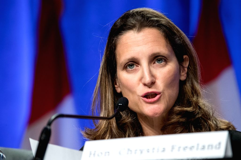 WASHINGTON, Aug. 16, 2017 - Canadian Foreign Minister Chrystia Freeland attends the first round of renegotiations on the North American Free Trade Agreement (NAFTA) in Washington D.C., the United ... - Chrystia Freeland