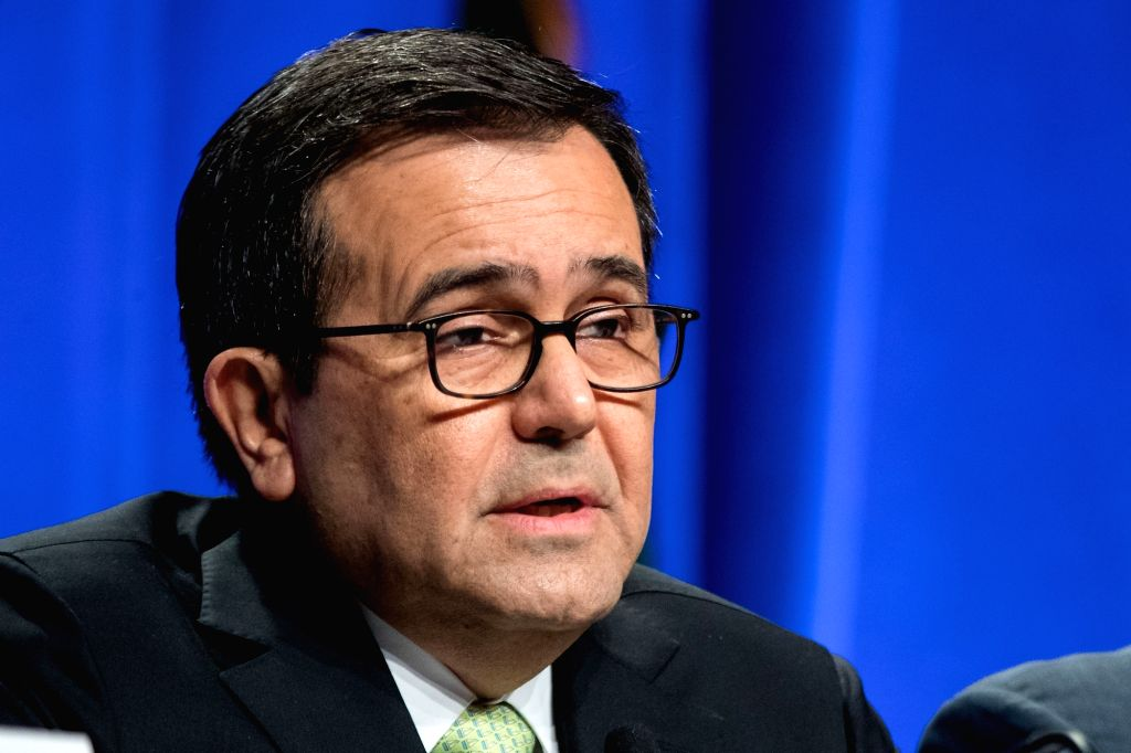 WASHINGTON, Aug. 16, 2017 - Mexican Economic Minister Ildefonso Guajardo Villarreal attends the first round of renegotiations on the North American Free Trade Agreement (NAFTA) in Washington D.C., ... - Ildefonso Guajardo Villarreal