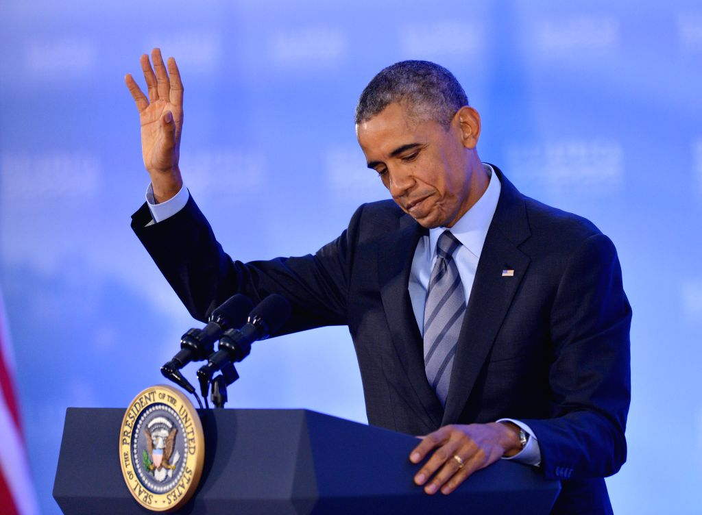 U.S. President Barack Obama speaks at a press conference during the U.S.-Africa Leaders Summit in Washington Aug. 6, 2014. The U.S. will help build a rapid ...