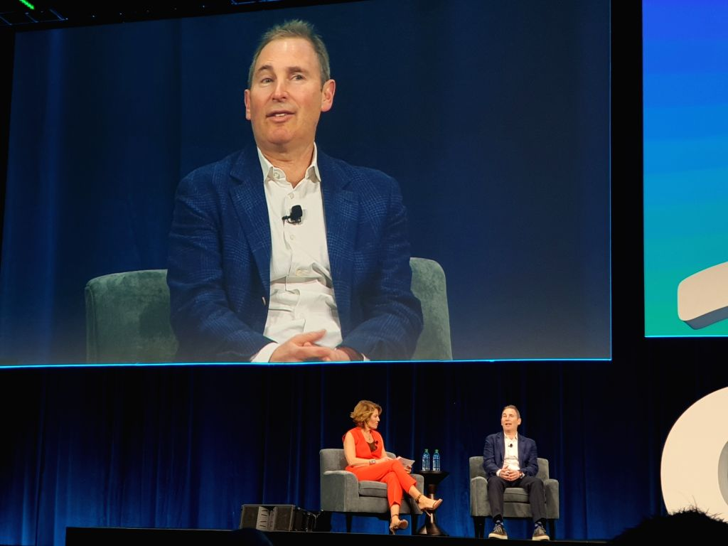 Washington: AWS CEO Andy Jassy on stage at AWS Public Sector Summit in Washington, DC, on June 12. (Photo: IANS)