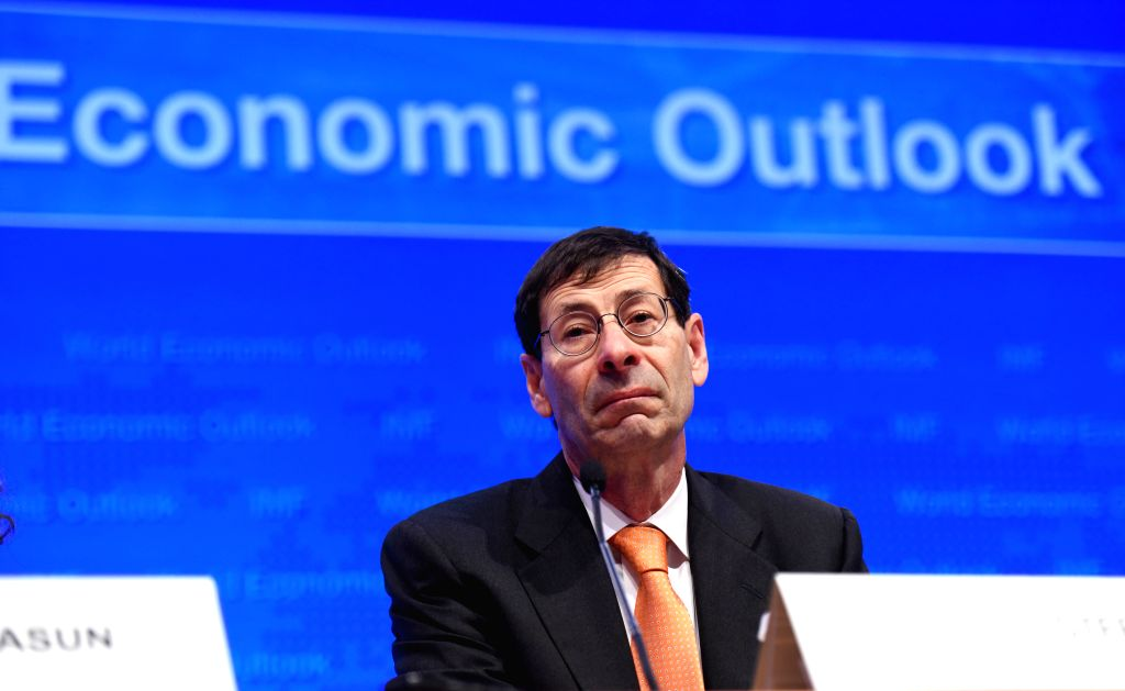 WASHINGTON D.C., April 12, 2016 - Maurice Obstfeld, chief economist at the International Monetary Fund (IMF), attends the Press Briefing on World Economic Outlook at the IMF headquarters in ...