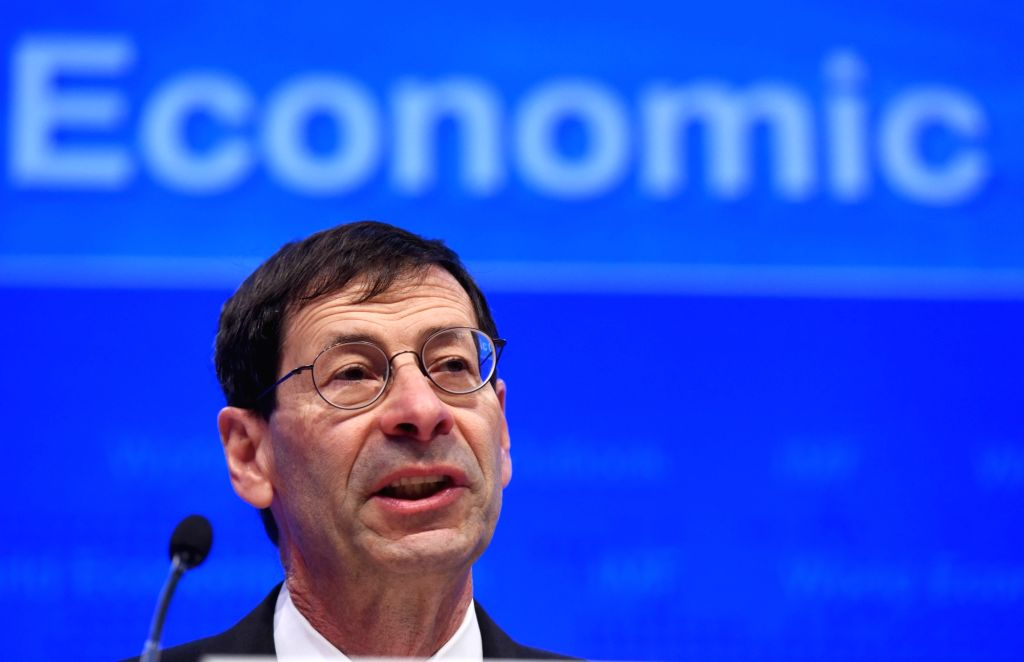 WASHINGTON D.C., April 12, 2016 - Maurice Obstfeld, chief economist at the International Monetary Fund (IMF), speaks at the Press Briefing on World Economic Outlook at the IMF headquarters in ...