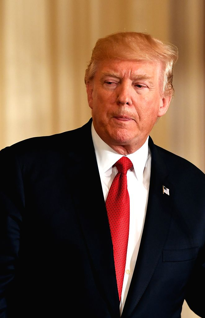 WASHINGTON D.C., April 21, 2017 - U.S. President Donald Trump attends a joint press conference with Italian Prime Minister Paolo Gentiloni (not in picture) at the White House in Washington D.C., the ... - Paolo Gentiloni