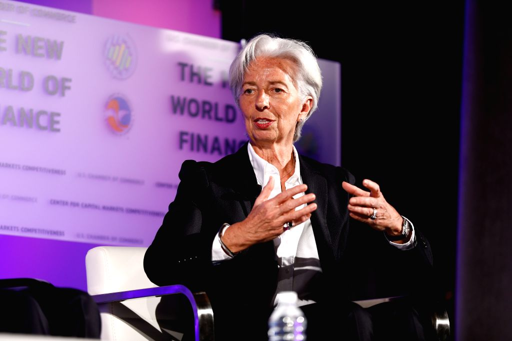 WASHINGTON D.C., April 3, 2019 - Managing Director of the International Monetary Fund (IMF) Christine Lagarde speaks during the 13th Annual Capital Markets Summit at the U.S. Chamber of Commerce ...
