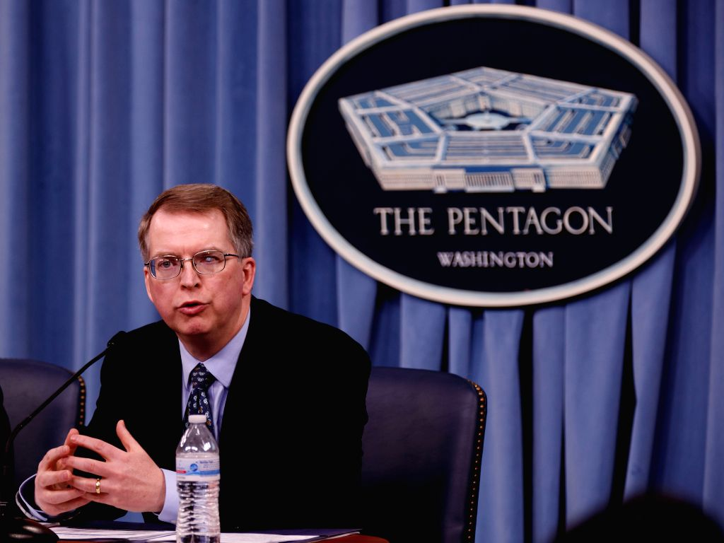 WASHINGTON D.C., Feb. 13, 2018 - Under Secretary of Defense (Defense Department Comptroller) David Norquist speaks during a press briefing regarding the fiscal year 2019 defense budget request at the ...