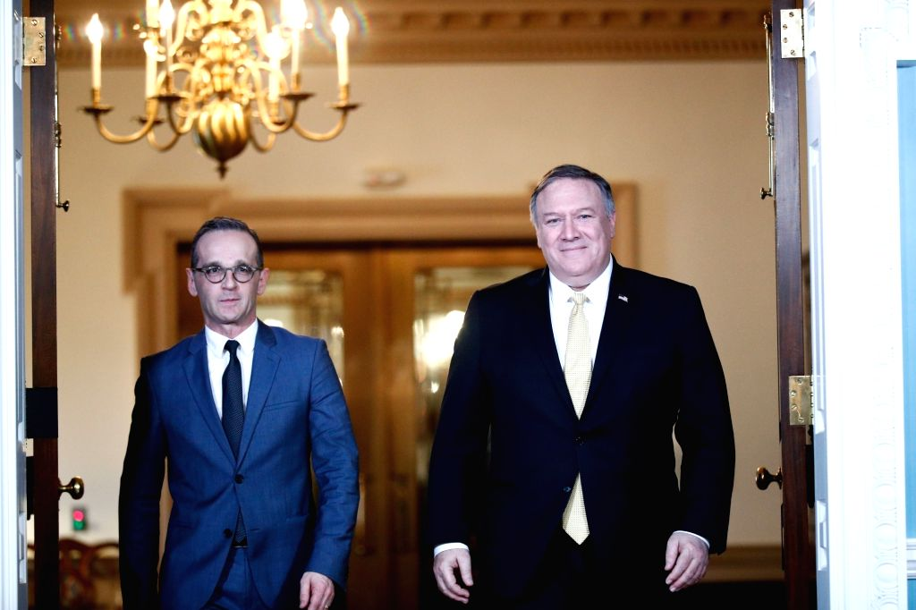 WASHINGTON, D.C., Jan. 24, 2019 U.S. Secretary of State Mike Pompeo (R) meets with German Foreign Minister Heiko Maas at the Department of State in Washington, D.C. Jan. 23, 2019. - Heiko Maas