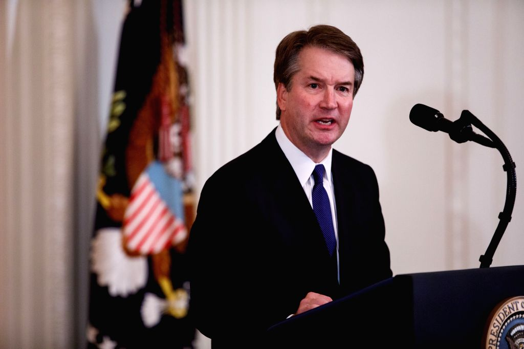WASHINGTON D.C., July 10, 2018 - Judge Brett Kavanaugh speaks after U.S. President Donald Trump's announcement of the Supreme Court nominee at the White House in Washington, D.C., the United States, ...