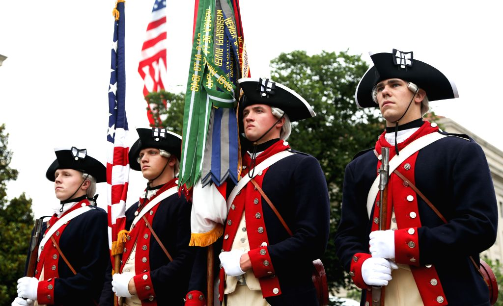 WASHINGTON D.C., July 4, 2016 - People take part in the Independence Day parade in Washington D.C., capital of the United States, July 4, 2016. The United States celebrated its 240th Independence Day ...