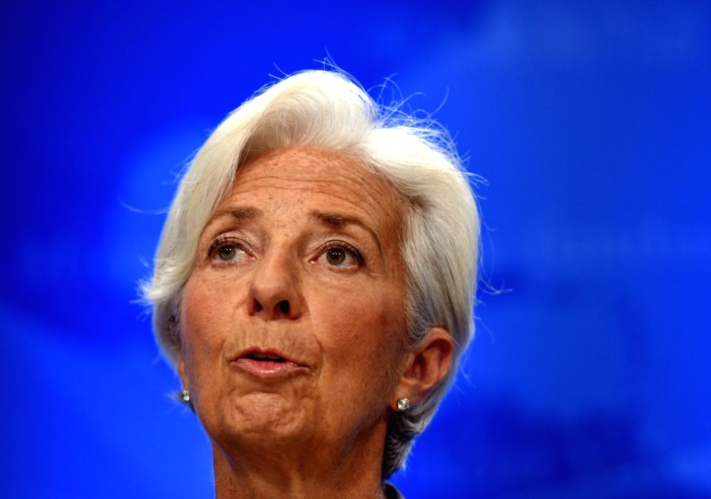 WASHINGTON D.C., June 22, 2016 - The International Monetary Fund(IMF) Managing Director Christine Lagarde speaks at a press conference in Washington D.C., the United States, on June 22, 2016. The ...