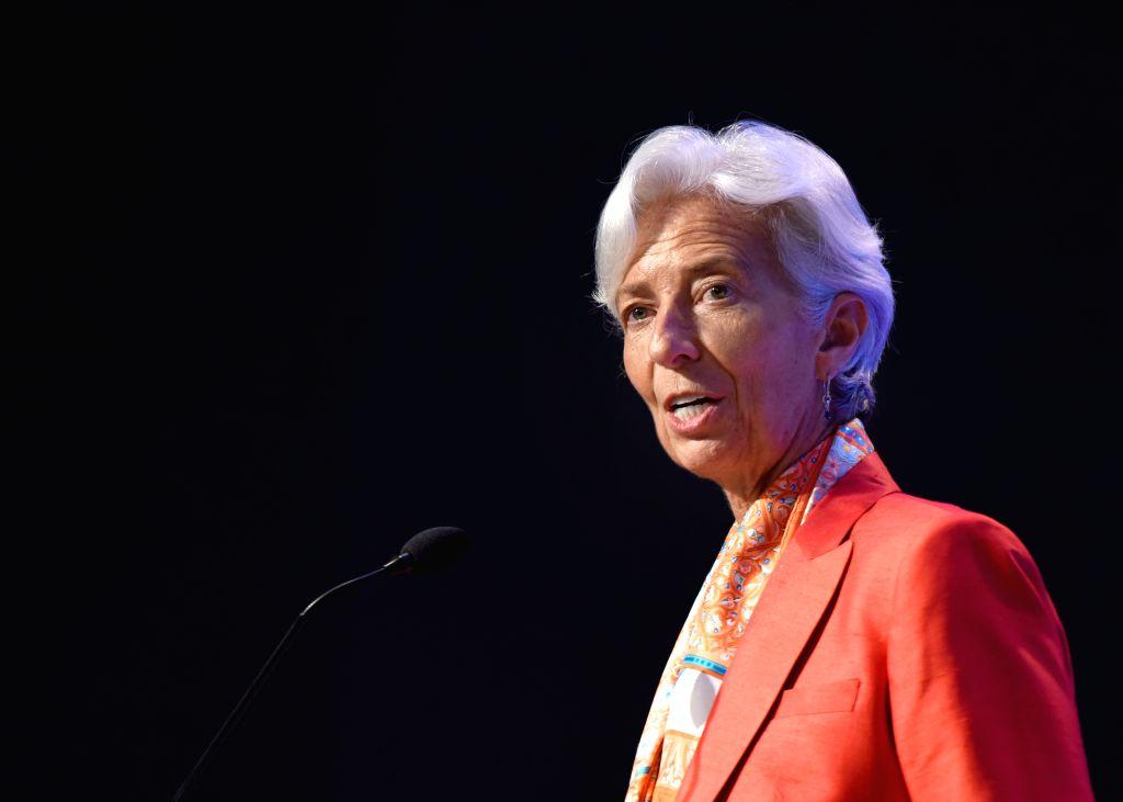 WASHINGTON D.C., June 24, 2016 - The International Monetary Fund(IMF) Managing Director Christine Lagarde speaks at the IMF headquarters in Washington D.C. the United States, on June 24, 2016. The ...