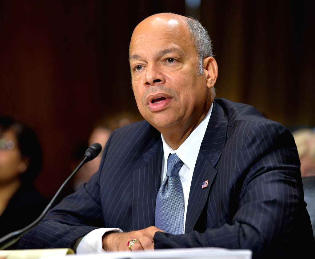 WASHINGTON D.C., June 30, 2016 - U.S. Homeland Security chief Jeh Johnson testifies before the Senate Committee on the Judiciary during a hearing on Capitol Hill in Washington D.C., capital of the ...