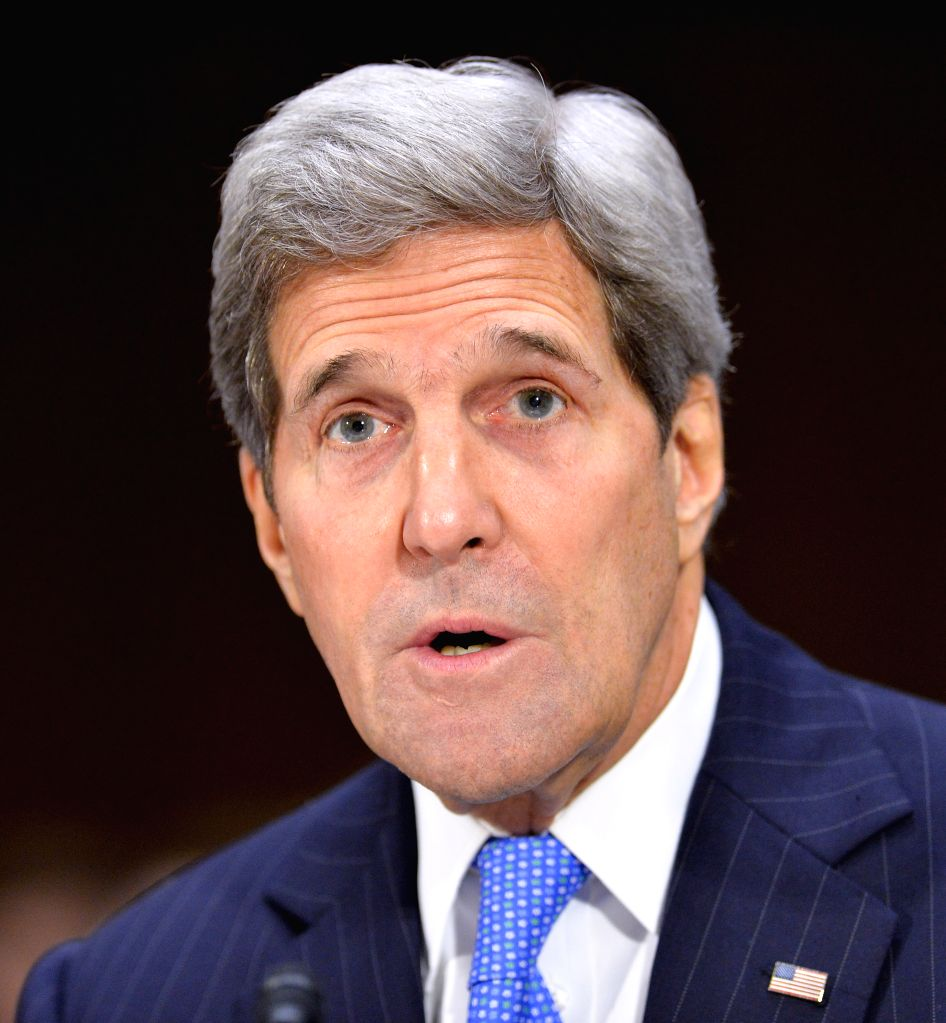 U.S. Secretary of State John Kerry testifies before Senate Foreign Relations Committee in the hearing on Obama's war authorization request to Congress, ...