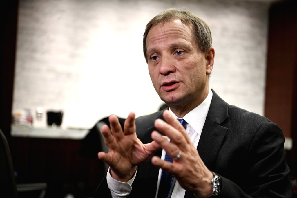 WASHINGTON D.C., March 14, 2019 - International Monetary Fund (IMF)'s senior resident representative for China Alfred Schipke speaks during an interview in Washington D.C., the United States, on ...