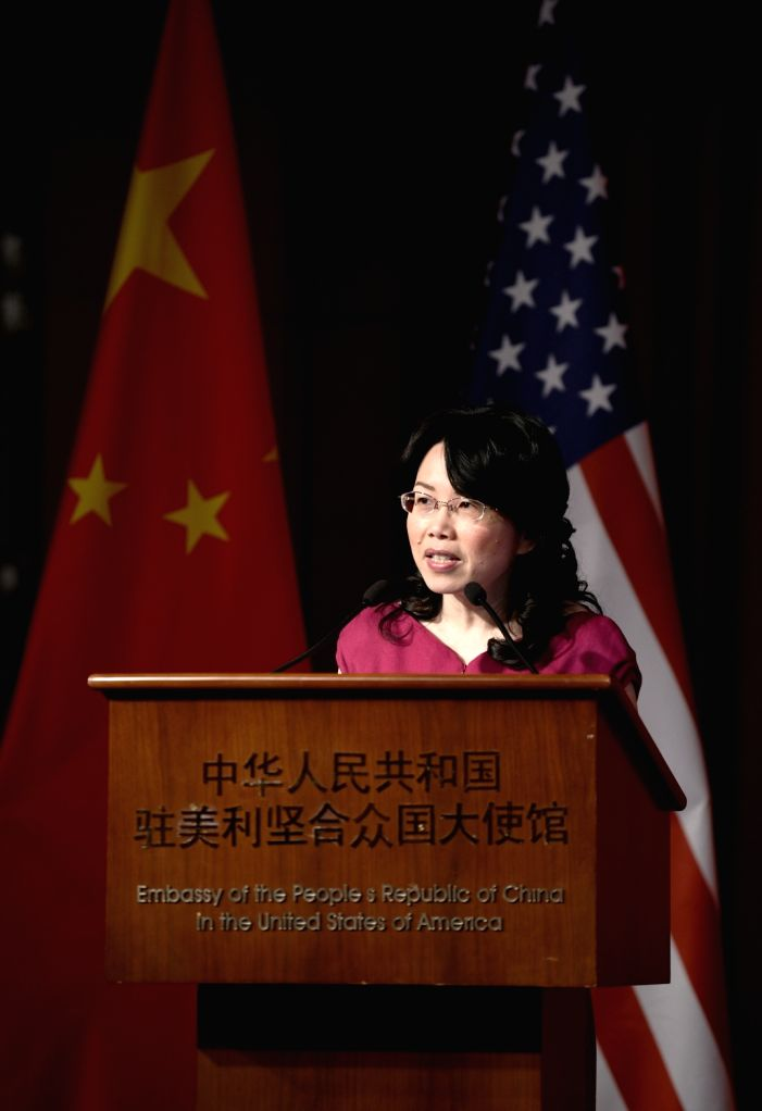WASHINGTON D.C., March 14, 2019 - Minister Xu Xueyuan of the Chinese Embassy speaks at a celebration marking the 40th anniversary of sister city relationships between Chinese and U.S. cities in ... - X