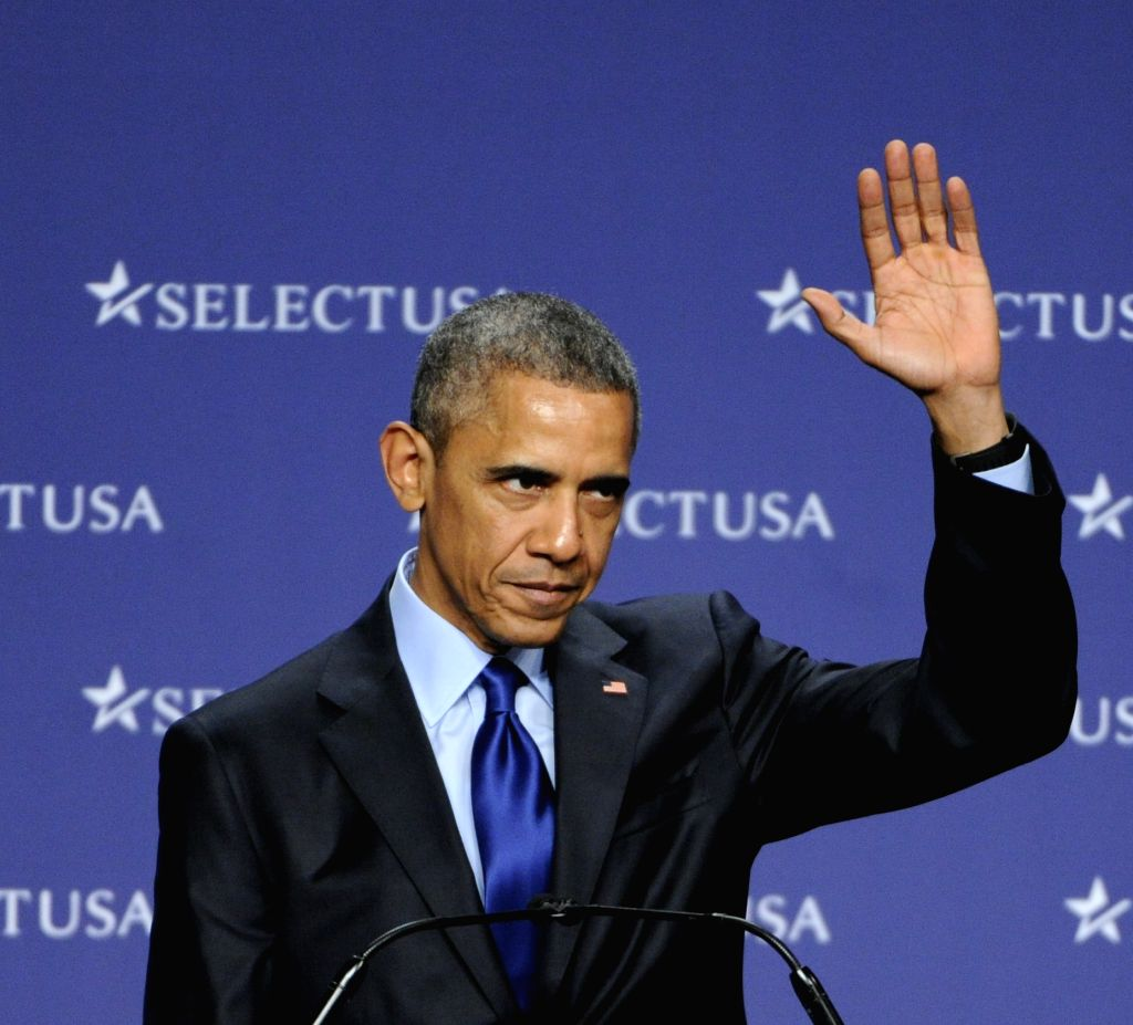 U.S. President Barack Obama speaks during the 2015 SelectUSA Investment Summit in Washington D.C., capital of the United States, March 23, 2015. U.S. ...
