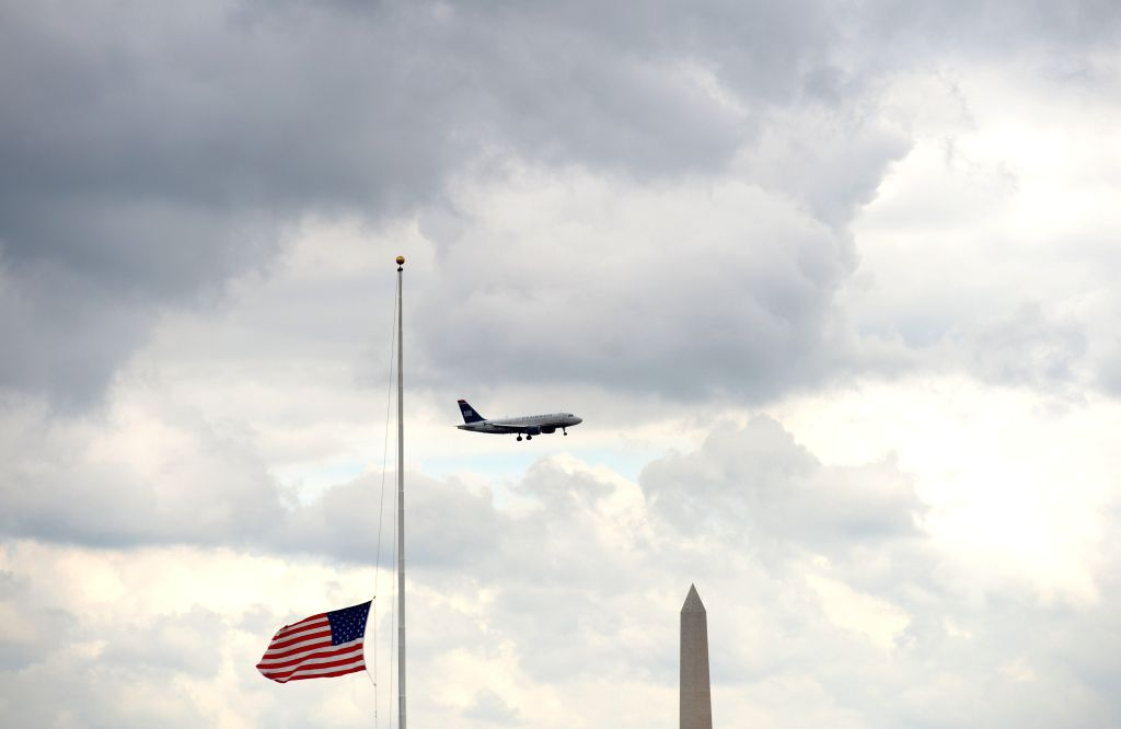 A flag is seen at half-staff for Peace Officers Memorial Day at the Pentagon, Washington D.C., on May 15, 2014. In 1962, President John F. Kennedy signed ...