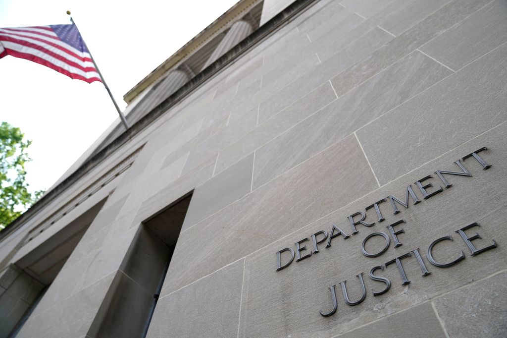 WASHINGTON D.C., May 29, 2019 - Photo taken on May 29, 2019 shows the U.S. Department of Justice headquarters building in Washington D.C., the United States. U.S. Special Counsel Robert Mueller will ...
