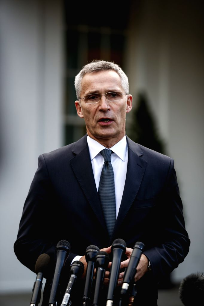 WASHINGTON D. C., Nov. 15, 2019 Secretary General of the North Atlantic Treaty Organization (NATO) Jens Stoltenberg speaks to reporters after meeting with U.S. President Donald Trump at ...