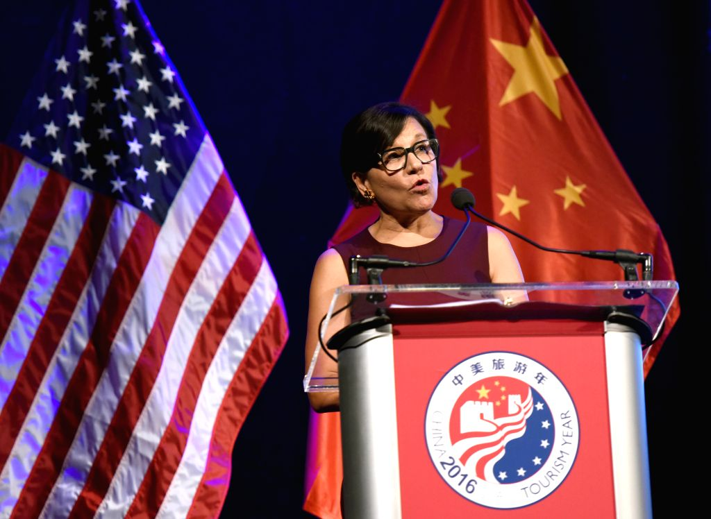 WASHINGTON D.C., Nov. 21, 2016 - U.S. Secretary of Commerce Penny Pritzker addresses the China-U.S. Tourism Year 2016 Closing Ceremony in Washington D.C., the United States, Nov. 20, 2016. China-U.S. ...