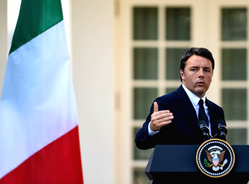 WASHINGTON D.C., Oct. 18, 2016 - Italian Prime Minister Matteo Renzi speaks during a joint press conference with U.S. President Barack Obama (not seen in picture) at White House in Washington D.C., ... - Matteo Renzi