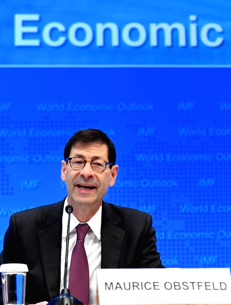 WASHINGTON D.C., Oct. 4, 2016 - Maurice Obstfeld, chief economist at the International Monetary Fund (IMF), attends a press briefing at the IMF headquarters in Washington D.C., the United States, ...