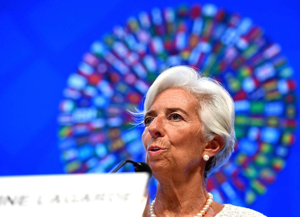 WASHINGTON D.C., Oct. 6, 2016 - International Monetary Fund (IMF) Managing Director Christine Lagarde speaks at a press conference on the coming 2016 Annual Meetings of IMF and World Bank Group in ...