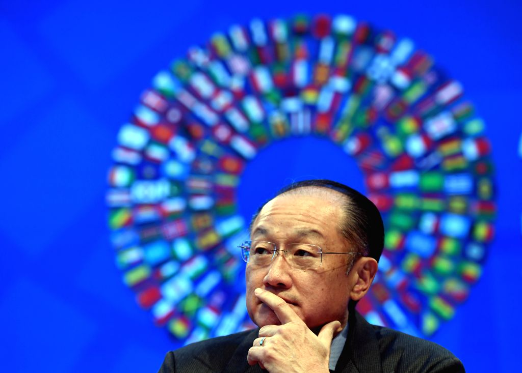 WASHINGTON D.C., Oct. 6, 2016 - Jim Yong Kim, president of the World Bank Group attends a press conference on the coming 2016 Annual Meetings of International Monetary Fund (IMF) and World Bank Group ...