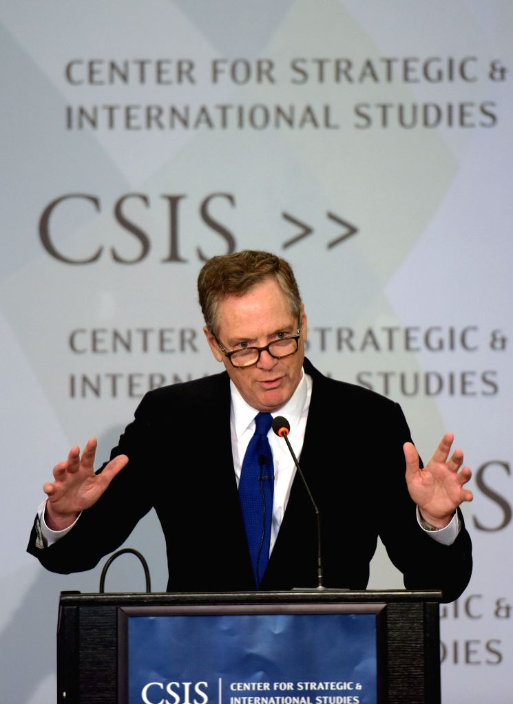 WASHINGTON D.C., Sept. 19, 2017 - U.S. Trade Representative (USTR) Robert Lighthizer delivers remarks at the Center for Strategic and International Studies (CSIS) in Washington D.C., the United ...