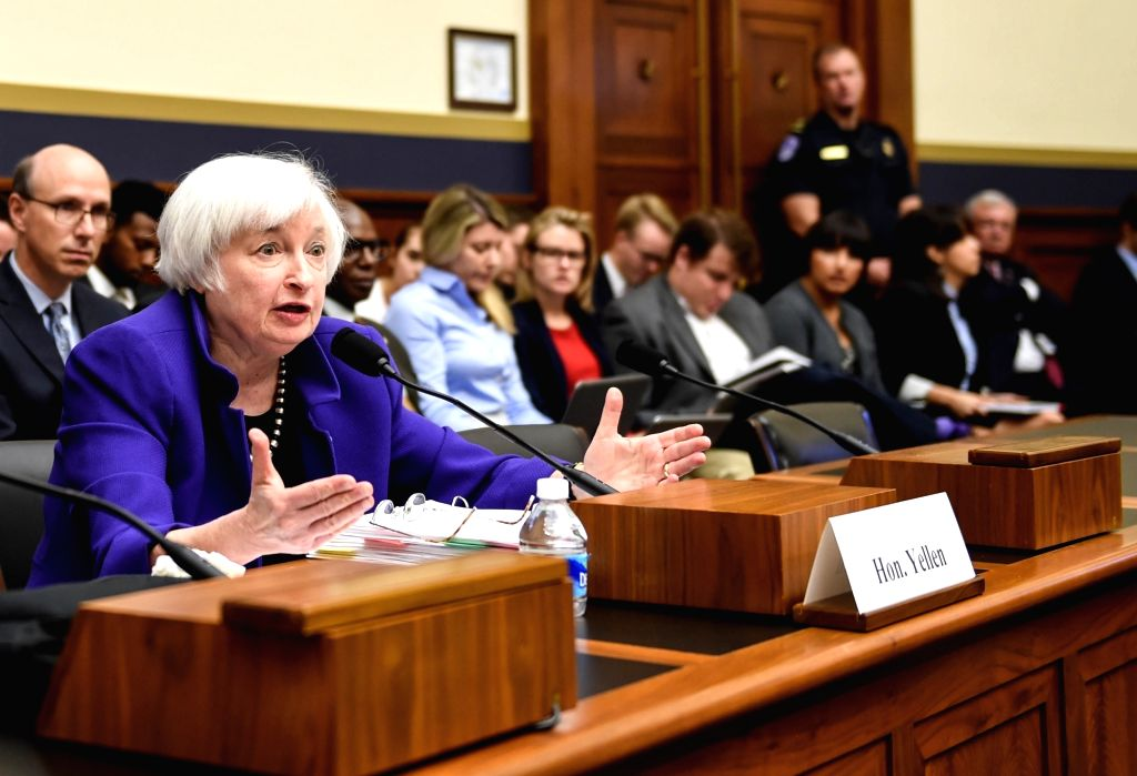 WASHINGTON D.C., Sept 28, 2016 - U.S. Federal Reserve chairwoman Janet Yellen testifies before the U.S. House financial services committee on Capitol Hill in Washington D.C., capital of the United ...