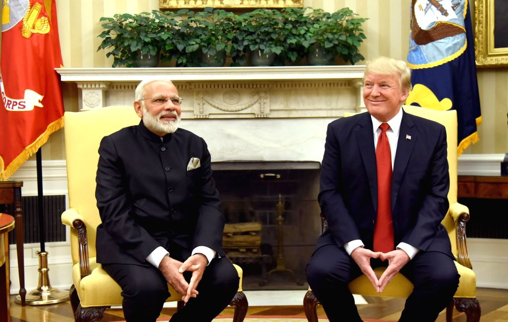 Washington DC: Prime Minister Narendra Modi meets President of United States of America (USA) Donald Trump, at White House, in Washington DC, USA on June 26, 2017. - Narendra Modi