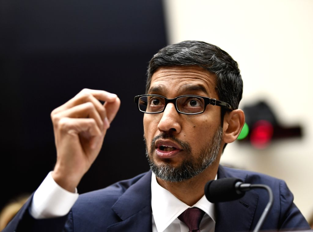 "WASHINGTON, Dec. 11, 2018 - Google CEO Sundar Pichai testifies before U.S. House of Representatives Judiciary Committee during a hearing ""Transparency & Accountability: Examining Google and ..."