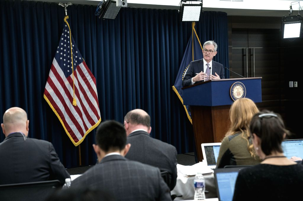WASHINGTON, Dec. 11, 2019 - U.S. Federal Reserve Chairman Jerome Powell speaks during a press conference in Washington D.C., the United States, on Dec. 11, 2019. The U.S. Federal Reserve on Wednesday ...