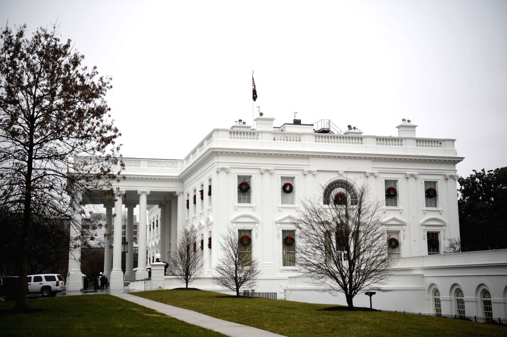 WASHINGTON, Dec. 13, 2019 - Photo taken on Dec. 13, 2019 shows the White House in Washington D.C., the United States. After a two-day marathon debate, the U.S. Democrat-led House Judiciary Committee ...