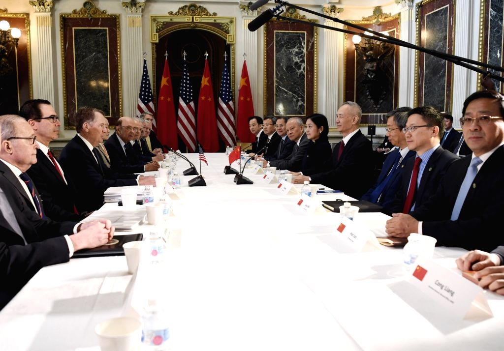 WASHINGTON, Feb. 21, 2019 - Chinese Vice Premier Liu He, who also comes as the special envoy of Chinese President Xi Jinping, U.S. Trade Representative Robert Lighthizer and Treasury Secretary Steven ...