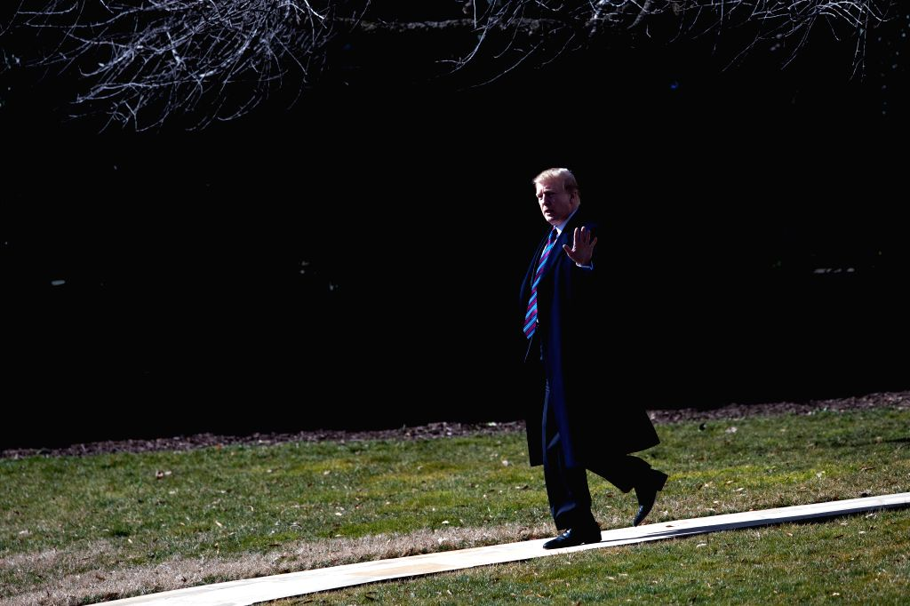 WASHINGTON, Feb. 8, 2019 - U.S. President Donald Trump departs from the White House in Washington D.C., the United States, on Feb. 8, 2019. U.S. President Donald Trump is receiving his annual medical ...