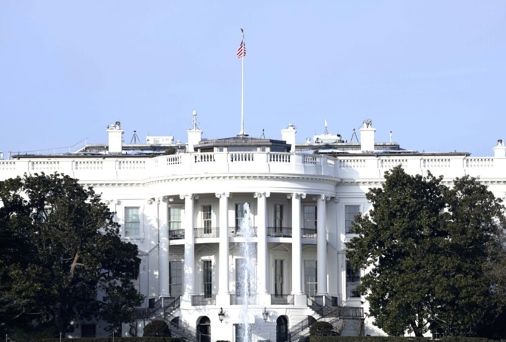WASHINGTON, Jan. 18, 2019 (Xinhua) -- Photo taken on Jan. 18, 2019 shows the White House in Washington D.C., the United States. The White House said Friday that the second summit between U.S. President Donald Trump and Kim Jong Un, top leader of the